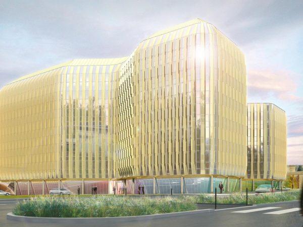 AXE PROMOTION – Construction de l'immeuble de bureaux R+6  Brio – MASSY PALAISEAU (91)